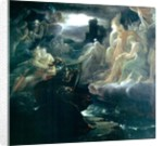 Ossian Conjuring up the Spirits on the Banks of the River Lora with the Sound of his Harp by Francois Pascal Simon