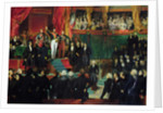 Louis-Philippe is sworn in as king before the Chamber of Deputies by Eugene Deveria