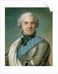 Portrait of Maurice Comte de Saxe by Maurice Quentin de la Tour