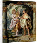 The Prophet Elijah and the Angel in the Wilderness by Peter Paul Rubens