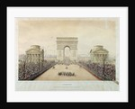Entry of Napoleon III into Paris, through the Arc de Triomphe, on by Theodore Jung