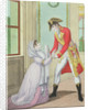 Grace granted by Napoleon to Madame de Polignac for her husband Armand Polignac by French School