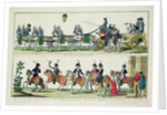 Entry to Paris of Charles, Count of Artois, 12 April 1814, and Entry to Paris of Louis XVIII, King of France and Navarre by French School