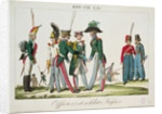 Russian officers and soldiers by French School