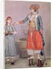 Turkish Woman with her Servant by Jean-Etienne Liotard