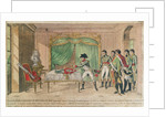 Emperor Napoleon I contemplating the sword of Frederick the Great at Potsdam in 1806 by French School