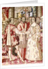 The Charles V Tapestry depicting the Marriage of Charles V to Isabella of Portugal in 1526, detail of the cardinal blessing the couple, Bruges by Flemish School
