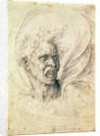 Study of a man shouting by Michelangelo Buonarroti