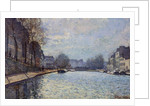 View of the Canal Saint-Martin, Paris by Alfred Sisley