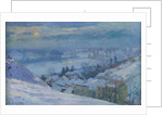 The Village of Herblay under snow by Albert-Charles Lebourg