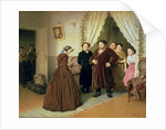 The Governess Arriving at the Merchant's House by Vasili Grigorevich Perov