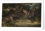 Heads of Roe Deer by Theodore Gericault