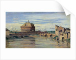 Castel Sant' Angelo and the River Tiber, Rome by Jean Baptiste Camille Corot