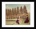 The Artist Painting his Wife by Henri J.F. Rousseau