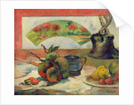 Still Life with a Fan by Paul Gauguin