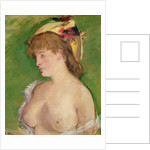 The Blonde with Bare Breasts by Edouard Manet