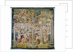 Scenes from the Life of St. Remigius bishop of Reims: the battle of Tolbiac in 496: the conversion and baptism of Clovis I, King of the Franks by French School