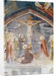 The Crucifixion, detail from the centre by Matteo di Giovanetto da Viterbo