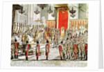 The Coronation of Leopold II at Bratislava in 1790 by Austrian School