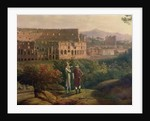 Johann Wolfgang von Goethe visiting the Colosseum in Rome by Jacob-Philippe Hackert
