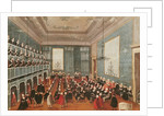 Concert given by the girls of the hospital music societies in the Procuratie, Venice by Gabriele Bella