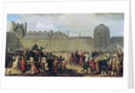 The Announcement of the signing of the Treaty of Versailles in 1783 by Anton van Ysendyck