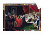 Duchess of Berry presenting the Duke of Bordeaux to the people and the army by Charles Nicolas Raphael Lafond