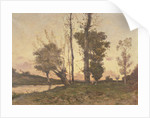 Landscape with a Stream by Henri-Joseph Harpignies