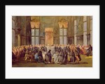 The Doge at the Feast for the Opening of the Carnival of Venice by Francesco Guardi