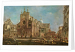Campo dei Santi Giovanni e Paolo and the Scuola Grande di San Marco, Venice by Francesco Guardi