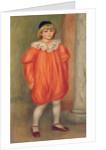 Claude Renoir in a clown costume by Pierre Auguste Renoir