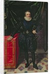 Portrait of Henri IV King of France, in a black costume by Frans II Pourbus