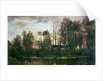 Sunset, Bas-Meudon by Charles Francois Daubigny