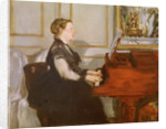Madame Manet at the Piano by Edouard Manet