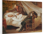 The Death of Theodore Géricault, with his friends Colonel Bro de Comeres and the painter Pierre-Joseph Dedreux-Dorcy by Ary Scheffer
