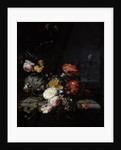 Still Life with Flowers and Insects by Jacob van Walscapelle