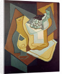 Bottle, Glass and Fruit Dish by Juan Gris