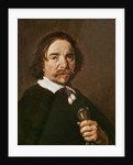 Portrait of a Man with a Glove and Black Hair by Frans Hals