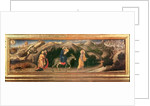 Adoration of the Magi Altarpiece, central predella Flight into Egypt by Gentile da Fabriano