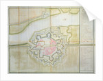 Map of Sas van Gent, Netherlands, 1747 by French School