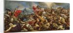 Joshua stopping the sun to defeat the Amalekites by Giovanni Battista Benaschi