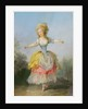 Dancer dressed in Louis XVI costume by Jean-Frederic Schall