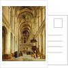 Interior of The Church of Saint-Etienne-du-Mont, Paris by Charles Renoux