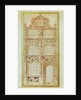 Proposal for the facade of a three-story house and a gable by Hans Holbein the Younger