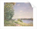 Normandy, the water path in the evening, Sahurs by Alfred Sisley