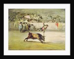 The Fall of a Picador from his Horse under a Bull by Francisco Goya y Lucientes