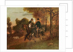 The Return from the Hunt by Gustave Courbet