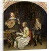 The Concert: Singer and Theorbo Player by Gerard ter Borch or Terborch