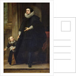 Portrait of a Nobleman and his Child or Portrait of the Brother of Rubens by Sir Anthony van Dyck