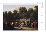The Distribution of Food and Wine on the Champs-Elysees by Louis Leopold Boilly